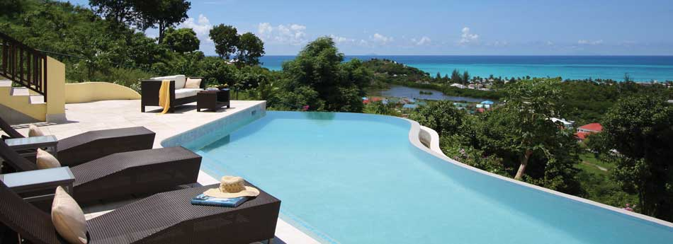Luxury Antigua Property Pool View